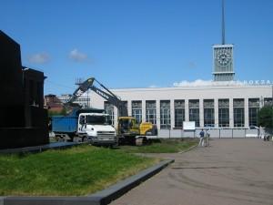 Строительство фонтанов площадь Ленина