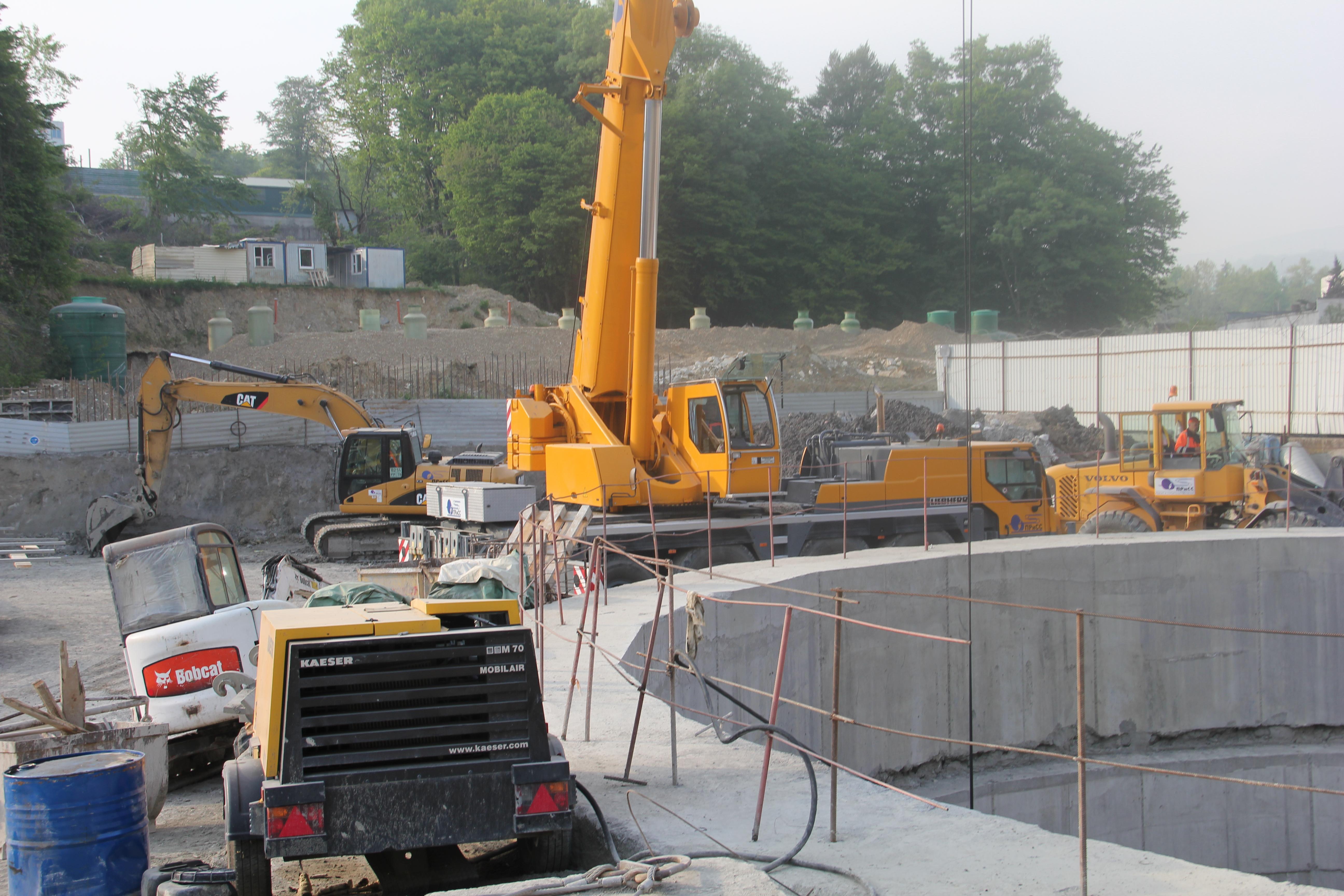 Cтроительство канализационного коллектора в районе склона ул. Войкова