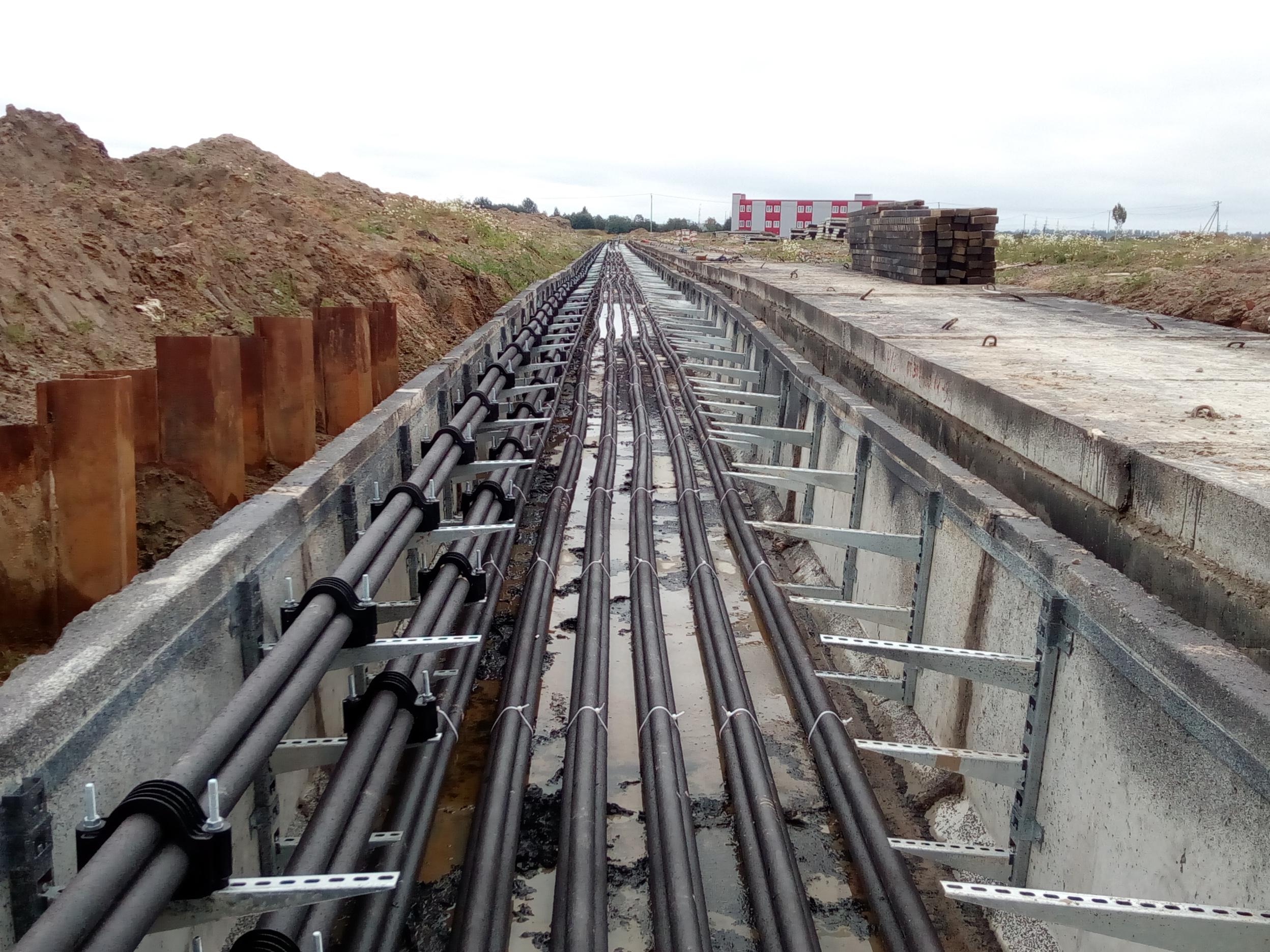 Строительство кабельной трассы для обеспечения электроэнергией жилых кварталов Санкт-Петербурга