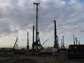 Строительство фундамента «Лахта-центра»