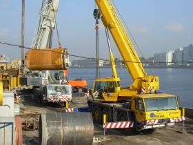 Строительство канализационных выпусков по Петроградской набережной